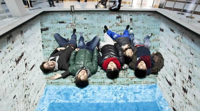 Giant 3D Pool Optical Illusion