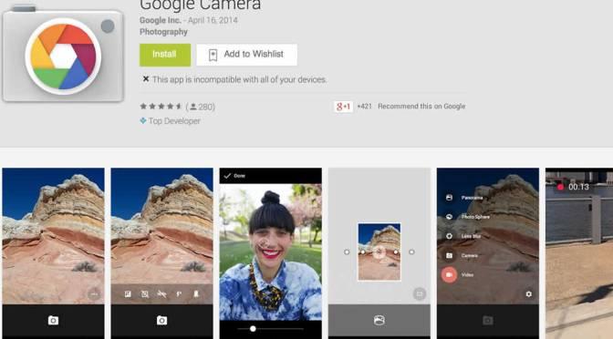 Google Reveals It's Standalone Camera App