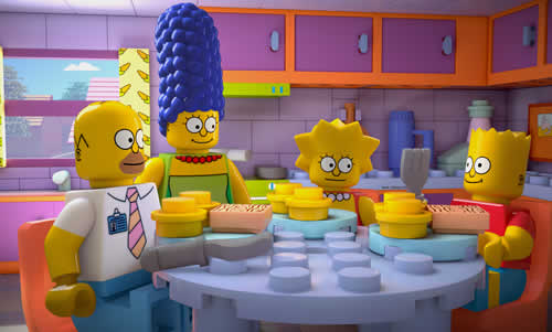 The Simpsons Universe Made Of Lego Bricks