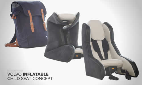 Volvo's New Inflatable Child Seat Concept