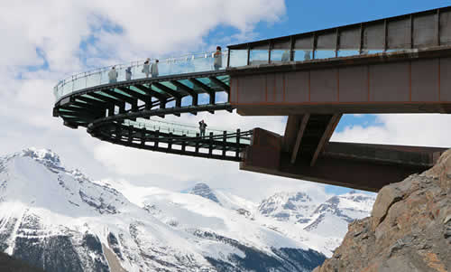 Glacier Skywalk Extends Over Canada's Jasper National Park