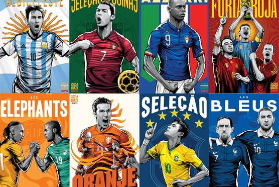 Brazil 2014 World Cup Posters by Cristiano Siqueira