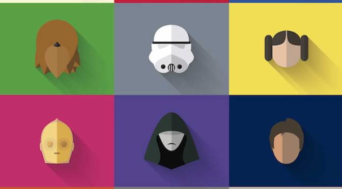 Star Wars Characters Get Flat Design-ed