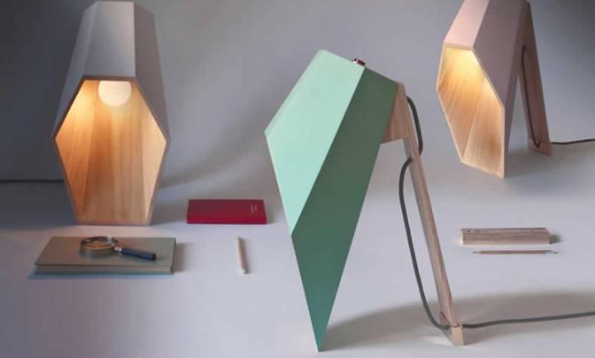 Woodspot: A Hexagonal Table Lamp By Alessandro Zambelli