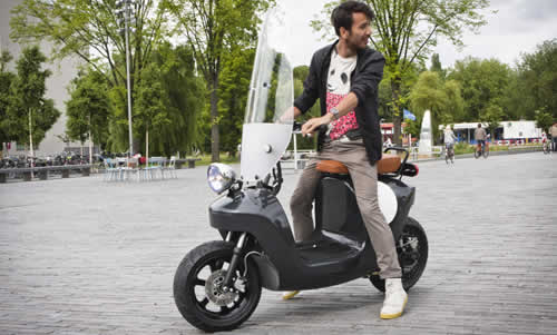 Be.e Electric Scooter Made From Bio-Composite & Flax